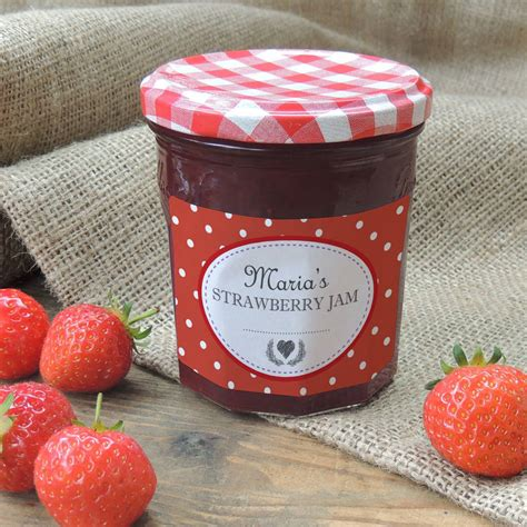Aufkleber Marmeladenglas by Personalised Spotty Jam Jar Labels By Able Labels