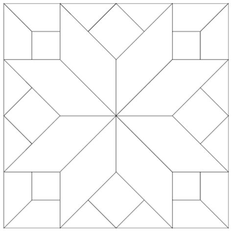 Printable Patchwork Templates Free - imaginesque quilt block 7 pattern and template