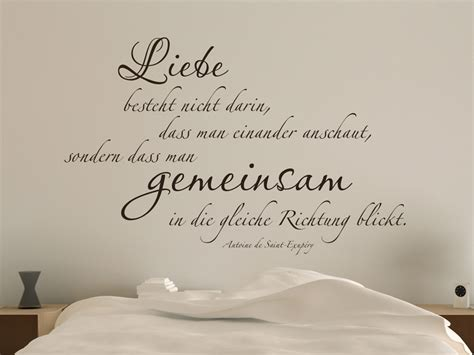 Hochzeit Zitate by Romantisches Wandtattoo Liebe Besteht Nicht Darin