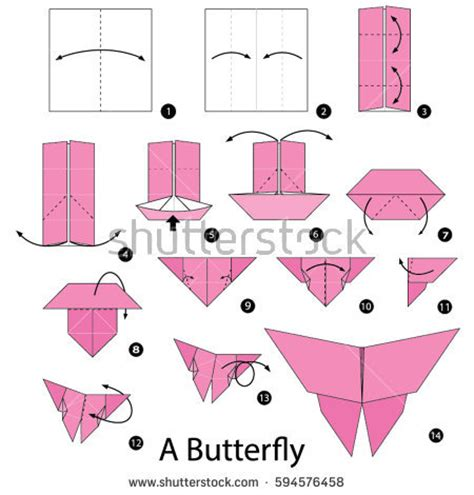 Step By Step Origami Butterfly - origami butterfree images images
