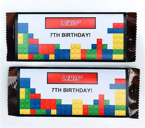 Thank You Card Mini Tema Lego lego birthday printables lego invitations