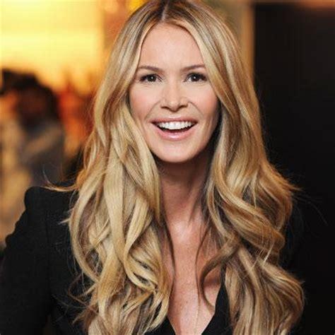 long layered blonde hair elle hairstyles elle macpherson s beauty secrets