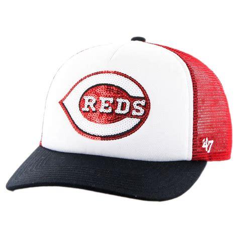 47 brand cincinnati reds mlb glimmer snapback baseball cap