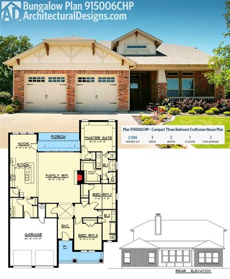 compact house plans plan 915006chp compact three bedroom craftsman house plan