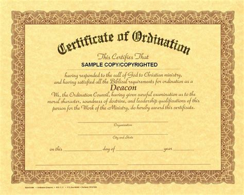 the corner stone cowboy 2 certificate of deacon