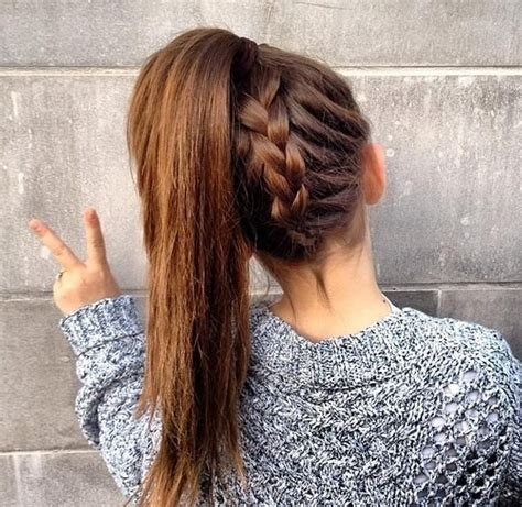 hair braided into pony tail braid pony 29 ways to spice up your ponytail hair