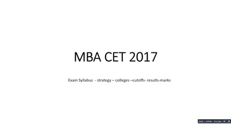 Mba Syllabus 2017 by Mba Cet 2017 Syllabus Paper Pattern Cutoffs Colleges