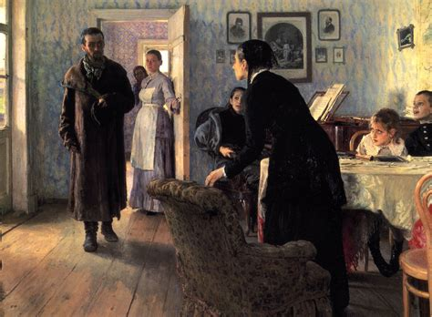 the unexpected visitor unexpected visitors ilya repin wikiart org encyclopedia of visual arts