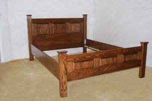 mission style oak bed de vries woodcrafters