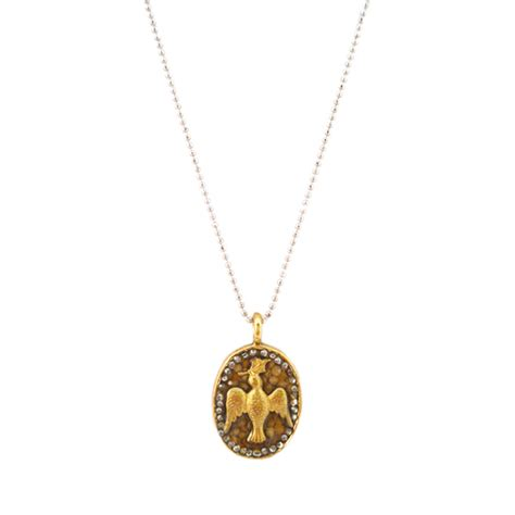 seed jewelry abiding peace gold oval bird christian necklace mustard