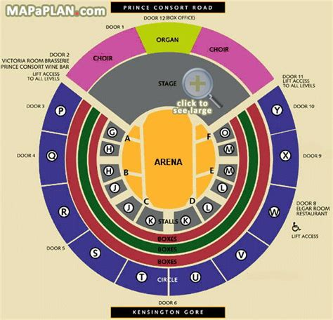 Royal Albert Hall Floor Plan by Royal Albert Hall Detailed Seat Numbers Seating Plan