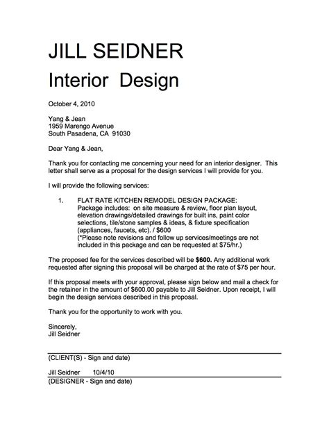interior design proposal pdf jill seidner interior design yang jean kitchen