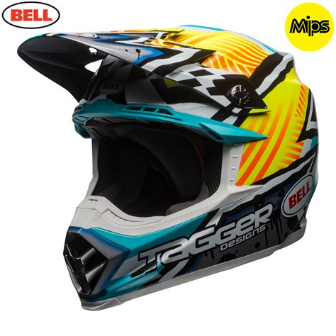 youth bell motocross helmets 2018 bell moto 9 mips helmet tagger yellow blue white