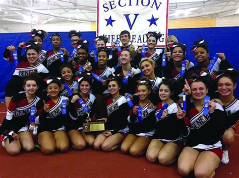 section 3 cheerleading hs cheerleading geneva red jacket claim sectional crowns
