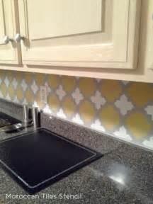 spice up your kitchen backsplash with a stencil 171 stencil