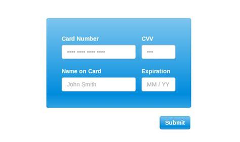 Credit Card Form Github creditly js a sleek intuitive credit card form web