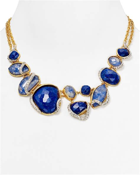 bittar lapis sodalite bib necklace 16 in gold lyst