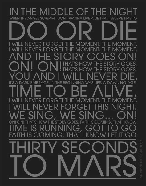 To Mars To Stay To Mars To Die do or die lyric 30 seconds to mars by mohanlink on
