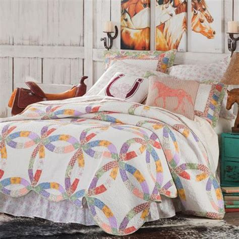 horse coverlet western cowgirl quilt collection cabin bedding and