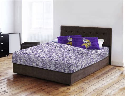 minnesota vikings bedding bed sheets queen 300 tc sheet set king or queen norwegian at home 2016 new gudetama
