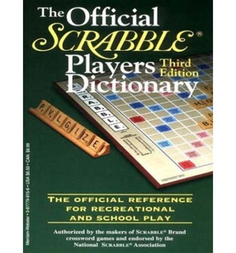 merriam webster scrabble dictionary the official scrabble players dictionary merriam webster