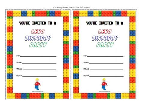 lego birthday invitations free printable allfreeprintable