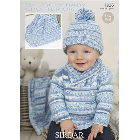 sirdar baby knitting patterns free sirdar snuggly baby crofter dk boys sweater and hat