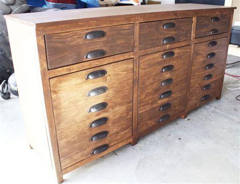 Printmakers Cabinet by Diy Restoration Hardware Printmakers Sideboard