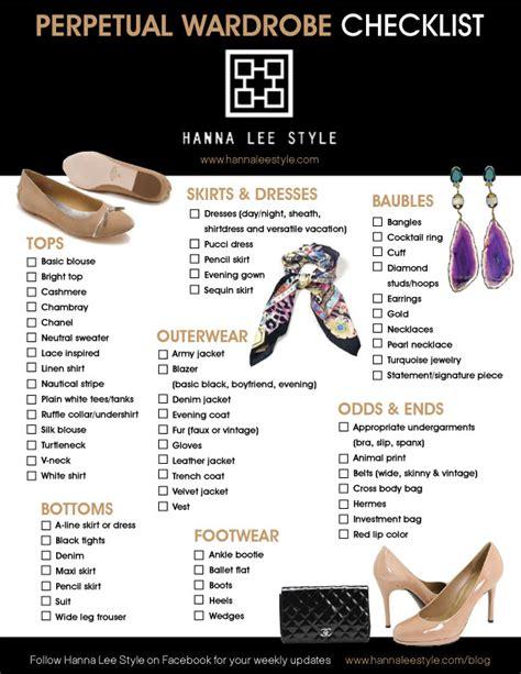 Check Wardrobe by Wardrobe Checklist Archives Style