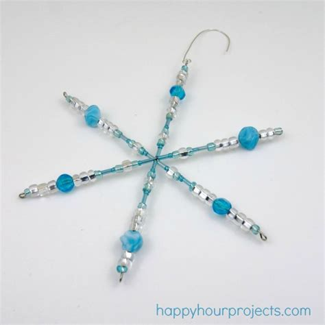 how to make beaded ornaments easy beaded snowflake ornaments with myfavoritebloggers