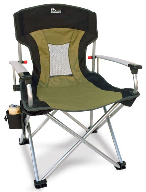 Folding Lawn Chair by Earth New Age Vented Back Outdoor Aluminum Folding Lawn