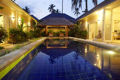 bedroom swimming pool garden pool villas private bali family accomodation the lovina bali beach resort