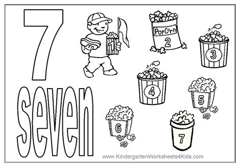 7 Eleven Coloring Page by Number Seven Learning To Write Simple Handwriting Number
