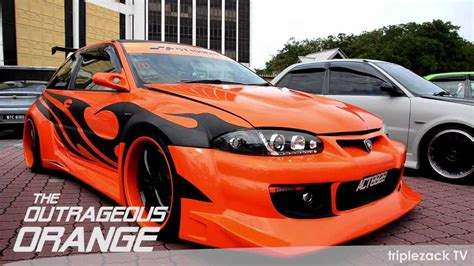 Satria Maxy proton satria the outrageous orange
