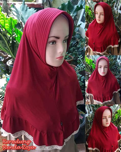Kerudung Jilbab kerudung renda zoya sentral grosir jilbab kerudung i supplier jilbab i retail grosir