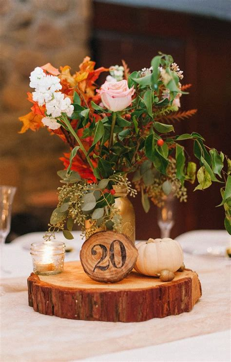Fall Wedding Centerpieces With Mason Jars