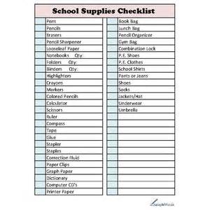 Office Supplies You Need For College School Supplies Checklist Polyvore