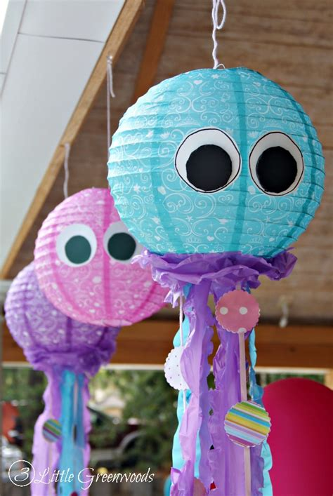 Diy Jellyfish Decorations by Simple Paper Lantern Jellyfish For A Mermaid