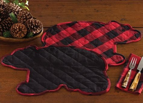 Buffalo Check Bear Placemat (Reversible)