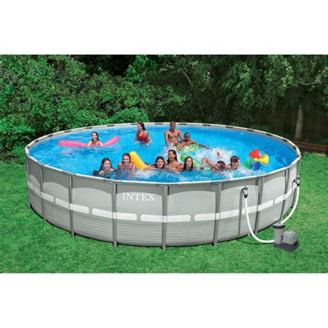 backyard pools walmart intex 26 x 52 quot ultra frame swimming pool walmart com
