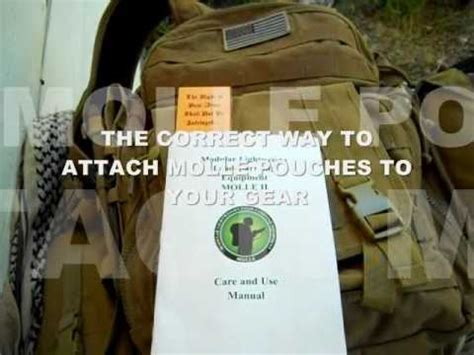 what does molle the correct way to attach molle pouches