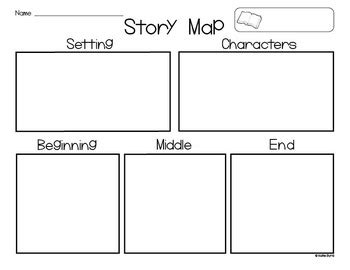 story setting template freebie story map settin by byrd teachers
