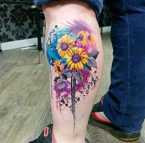 sunflowers botanical piece best tattoo design ideas