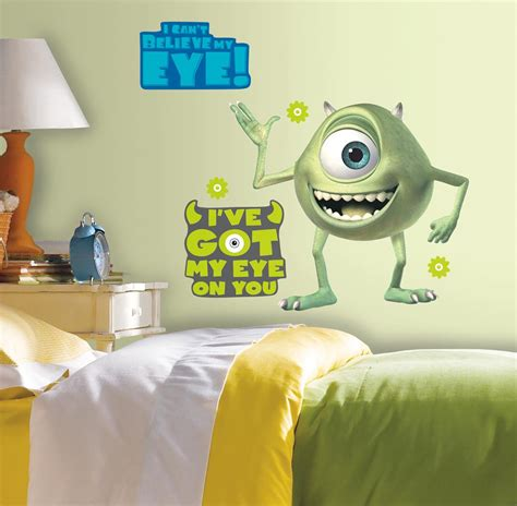 Monsters Inc Wall Decor new mike wazowski wall decals monsters inc stickers
