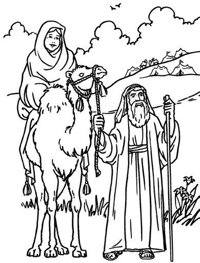 coloring sheet abraham and sarah free coloring pages of bible abraham