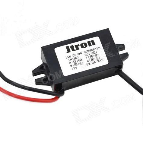 12v dc resistor dc 12v to dc 5v converter voltage regulator black free shipping dealextreme