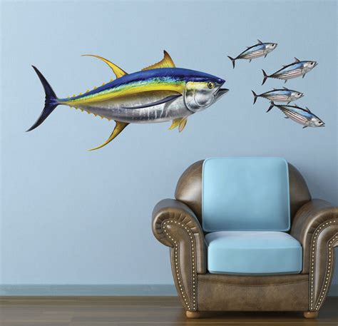 yellowfin tuna wall decal bold wall art