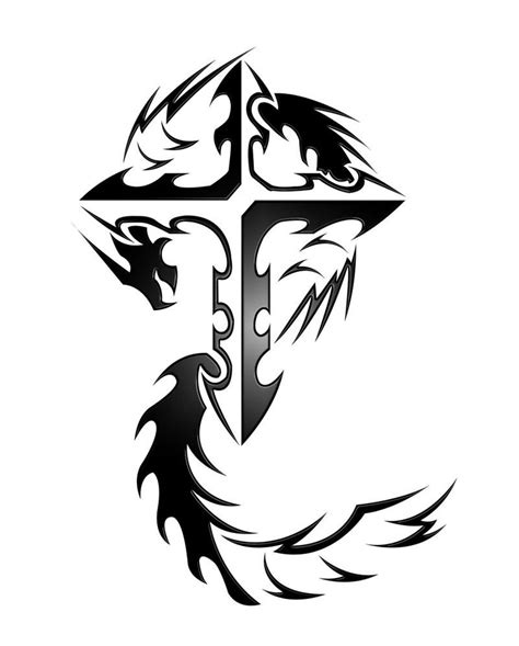tattoo 3d vector 55 dragon cross tattoos designs and pictures