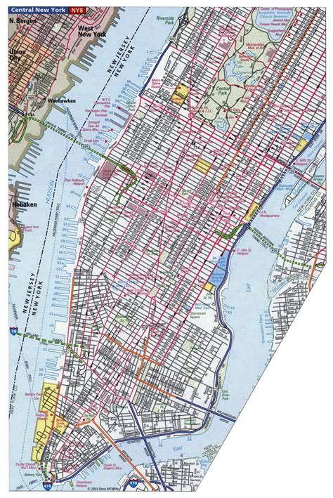 map manhattan streets geography maps manhattan new york city