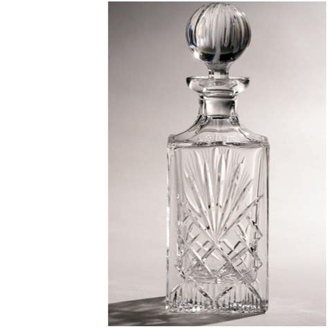 Lead Crystal Vase Cut Crystal Majestic Square Spirit Decanter